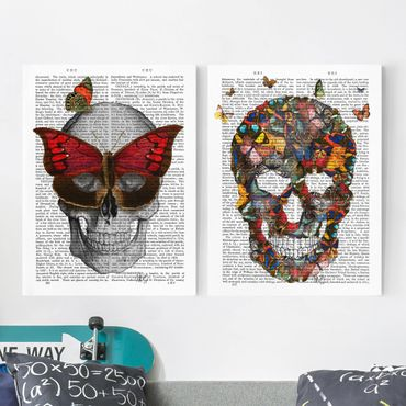 Stampa su tela - Spaventoso Reading - Butterfly Mask Set I - Verticale 4:3
