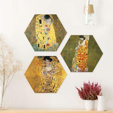 Esagono in Alu-dibond - Gustav Klimt - Ritratti