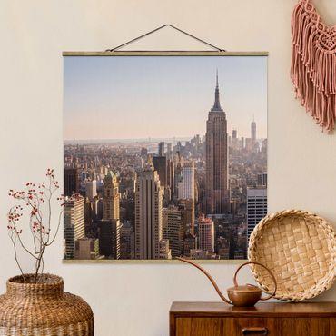 Foto su tessuto da parete con bastone - Empire State Building - Quadrato 1:1