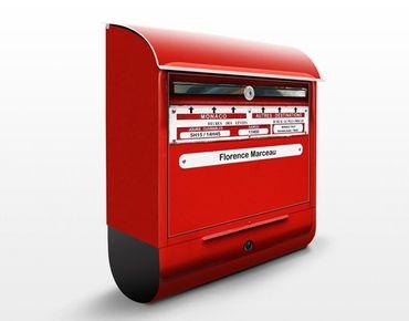 Cassetta postale personalizzata Letterbox In France 39x46x13cm