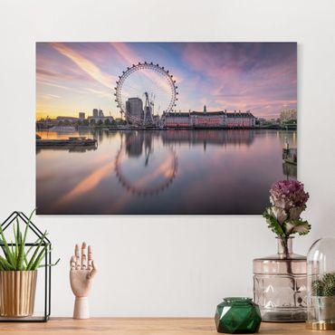 Stampa su tela - London Eye all'alba