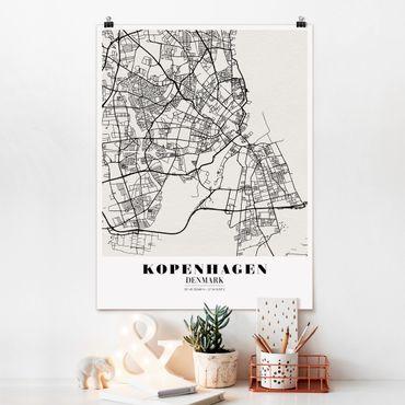 Poster - Mappa Copenhagen - Classic - Verticale 4:3