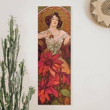 Quadri su tela - Alfons Mucha - Pietre preziose - rubino