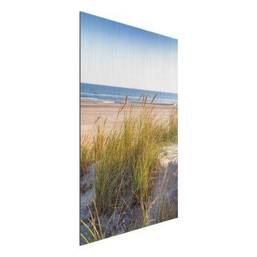 Stampa su alluminio spazzolato - Beach Dune Al Mare - Verticale 3:2