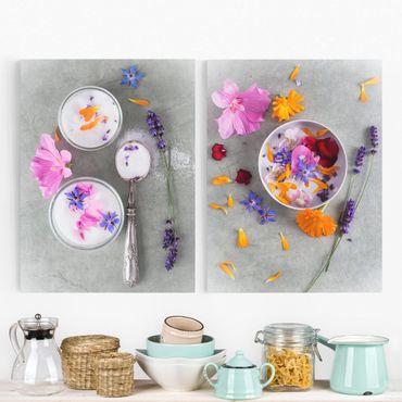 Stampa su tela 2 parti - Flowers with sugar - Verticale 4:3
