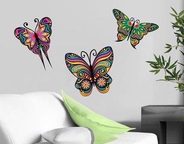 Adesivo murale no.BP23 Mandala Butterflies