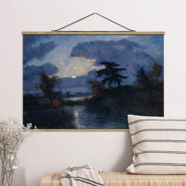 Foto su tessuto da parete con bastone - Otto Modersohn - Moon Night In Teufelsmoor - Orizzontale 2:3