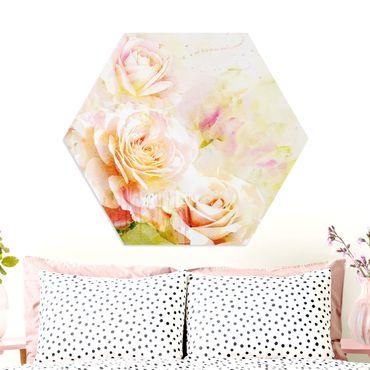 Esagono in forex - Acquerello Roses Composizione