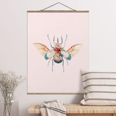 Foto su tessuto da parete con bastone - Vintage Beetle - Verticale 4:3