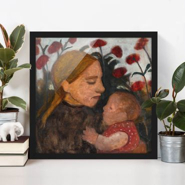 Poster con cornice - Paula Modersohn-Becker - Young Woman With Child - Quadrato 1:1