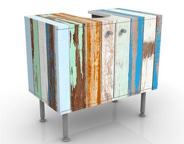 Mobile sottolavabo - Shabby Chic - Recinto antico - Mobile bagno vintage marittimo effetto legno