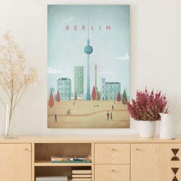 Stampa su tela - Poster viaggio - Berlino - Verticale 3:2