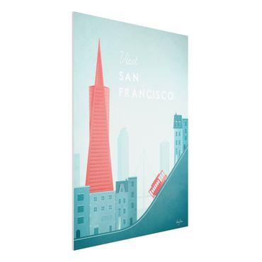 Stampa su Forex - Poster Travel - San Francisco - Verticale 4:3