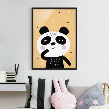 Poster con cornice - The Happy Panda - Verticale 4:3
