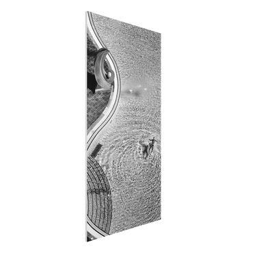 Quadro in forex - Piscina In Bianco e nero - Verticale 1:2
