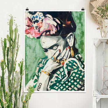 Poster - Frida Kahlo - Collage No.3 - Verticale 4:3