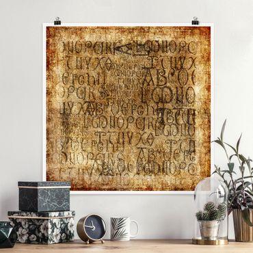 Poster - vecchie lettere - Quadrato 1:1