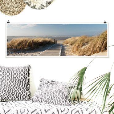 Poster - Spiaggia del Mar Baltico - Panorama formato orizzontale