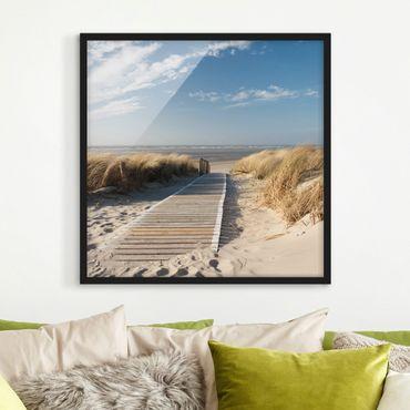 Poster con cornice - Baltic Sea Beach - Quadrato 1:1