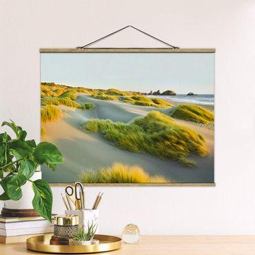 Foto su tessuto da parete con bastone - Dune ed erbe Al Mare - Orizzontale 3:4