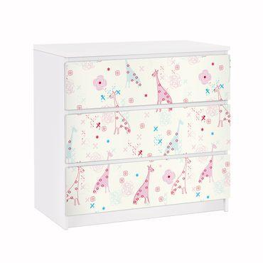 Carta adesiva per mobili IKEA - Malm Cassettiera 3xCassetti - Dreaming Giraffe
