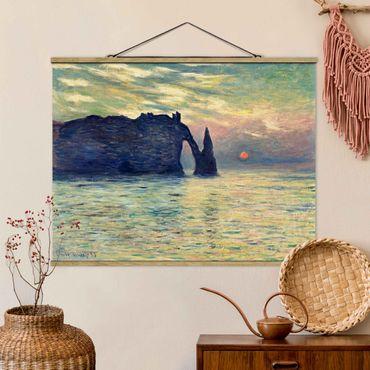 Foto su tessuto da parete con bastone - Claude Monet - Rock Tramonto - Orizzontale 3:4