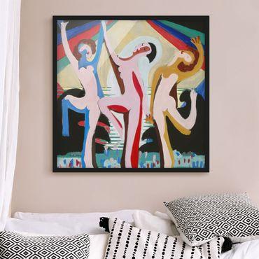 Poster con cornice - Ernst Ludwig Kirchner - Color Dance - Quadrato 1:1