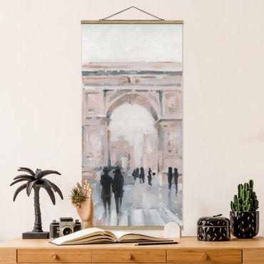 Foto su tessuto da parete con bastone - Walk In The Morning II - Verticale 2:1