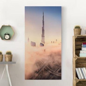 Stampa su tela - Heavenly skyline di Dubai - Verticale 1:2