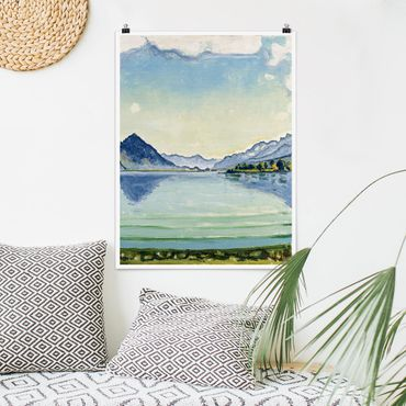 Poster - Ferdinand Hodler - Lago di Thun A Leissigen - Verticale 4:3