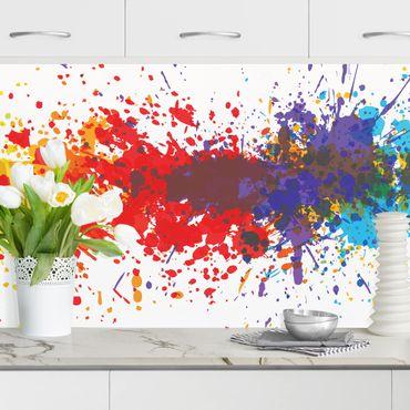 Rivestimento cucina - Spruzzi di arcobaleno I
