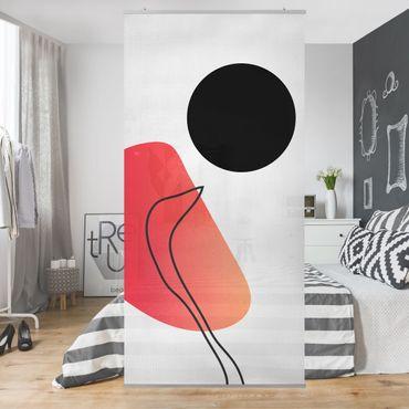 Tenda a pannello - Forme astratte - Sole nero - 250x120cm