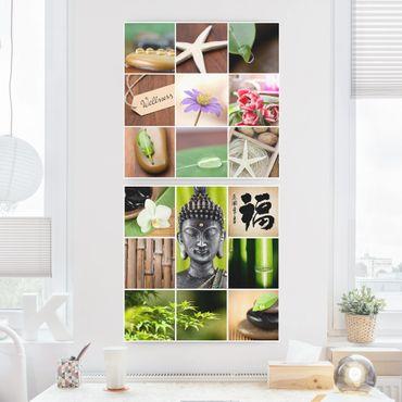 Stampa su tela 2 parti - Wellness collage - Quadrato 1:1