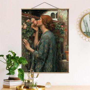 Foto su tessuto da parete con bastone - John William Waterhouse - L'anima della rosa - Verticale 4:3