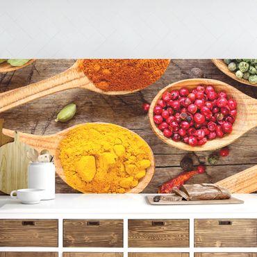 Rivestimento cucina - Spezie Sul Cucchiaio Di Legno