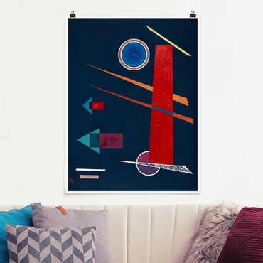 Poster - Wassily Kandinsky - Mighty Red - Verticale 4:3