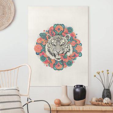 Quadri su tela - Illustrazione Tiger disegno Mandala Paisley