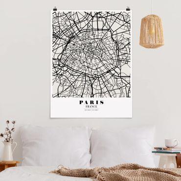 Poster - Mappa Paris - Classic - Verticale 4:3