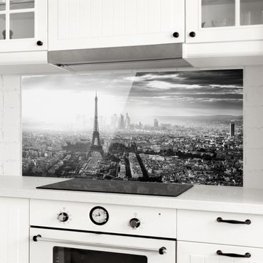 Paraschizzi in vetro - The Eiffel Tower From Above In Black And White