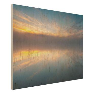 Quadro in legno - Alba Lago svedese - Orizzontale 4:3