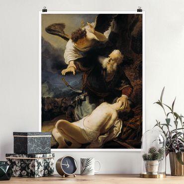 Poster - Rembrandt van Rijn - Il sacrificio di Isacco - Verticale 4:3