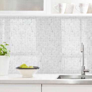 Rivestimento cucina - Mosaici in marmo bianco Carrara