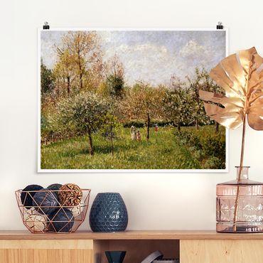 Poster - Camille Pissarro - Primavera in Eragny - Orizzontale 3:4