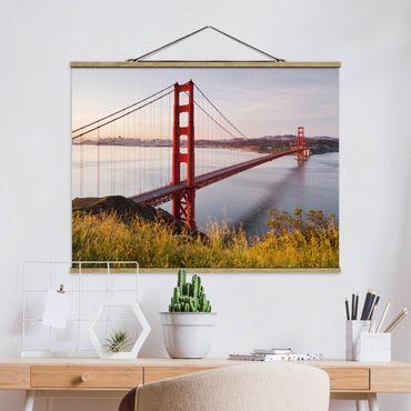 Foto su tessuto da parete con bastone - Golden Gate Bridge di San Francisco - Orizzontale 3:4