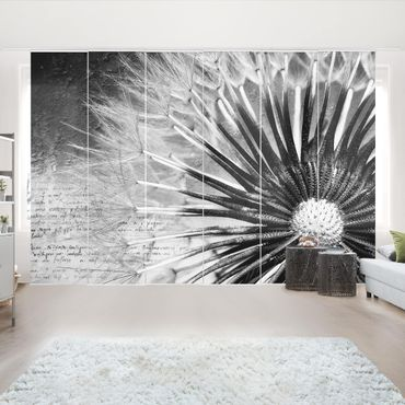 Tende scorrevoli set - Dandelion Black & White