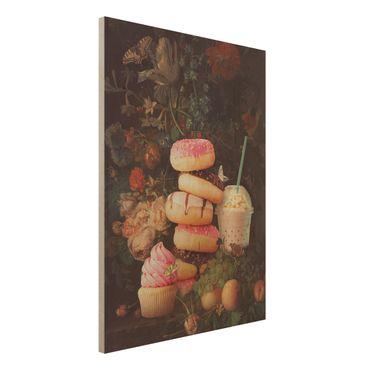 Stampa su legno - Floreale dolce Bouquet - Verticale 4:3