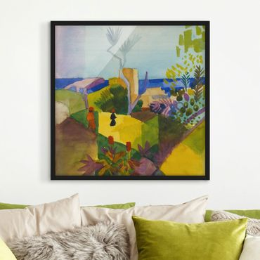 Poster con cornice - August Macke - Landscape By The Sea - Quadrato 1:1