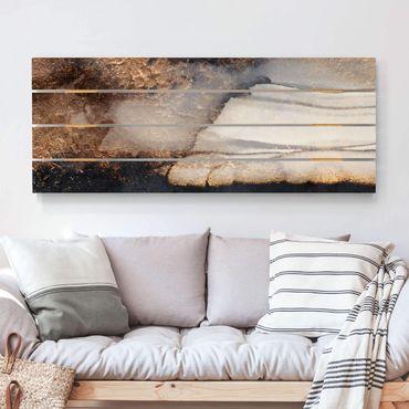 Stampa su legno - Elisabeth Fredriksson - Oro Marmo Painted - Orizzontale 2:5