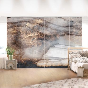 Tende scorrevoli set - Elisabeth Fredriksson - Oro Marmo Painted - 6 Pannelli