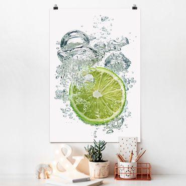 Poster - lime Bubbles - Verticale 3:2